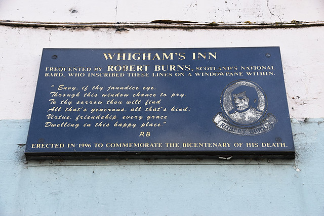 Burns plaque, Sanquhar, Scotland