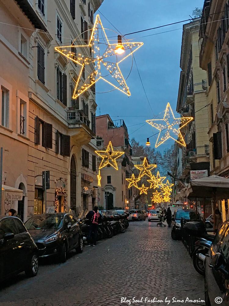 A linda decoração de Natal de Trastevere