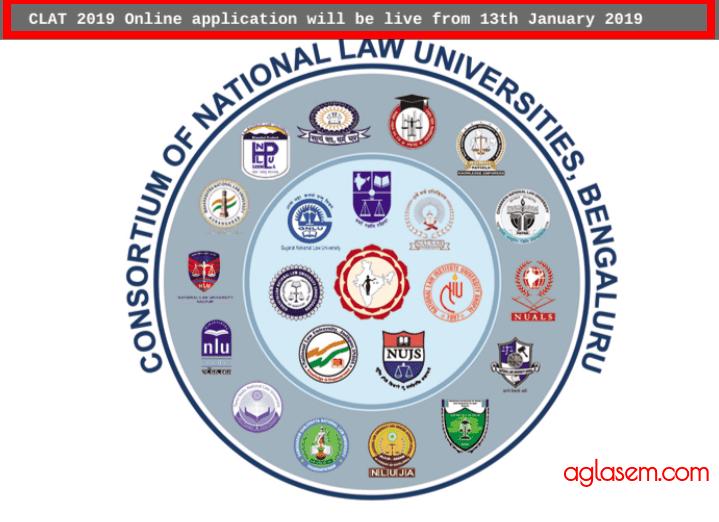 CLAT 2019 Application form Postponed; Registration Starting From Jan 13