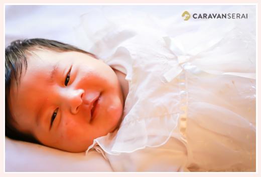 1か月の赤ちゃん ニッコリ笑顔