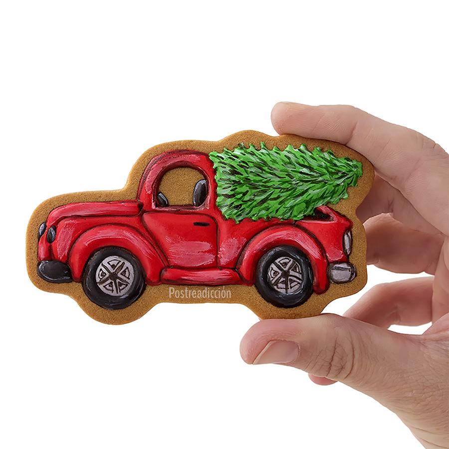 galleta camión navideño