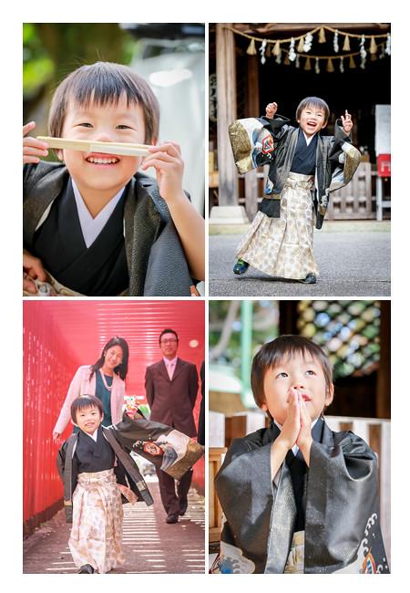 3歳の男の子の七五三 深川神社(愛知県瀬戸市)