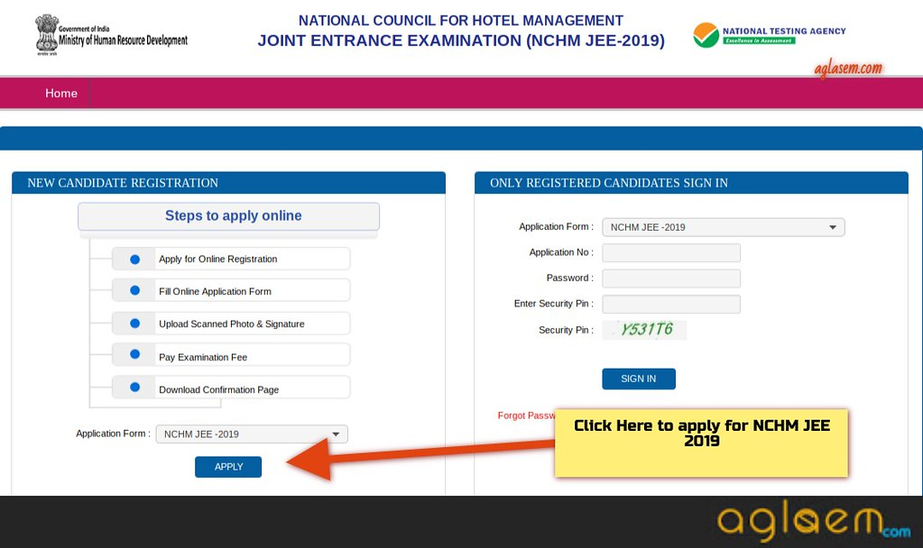 NCHMCT JEE 2019 Application Form Released; Last Date To Apply 15 March