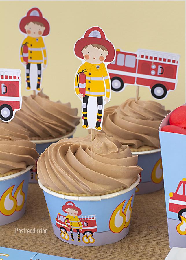cumpleaños infantil bombero