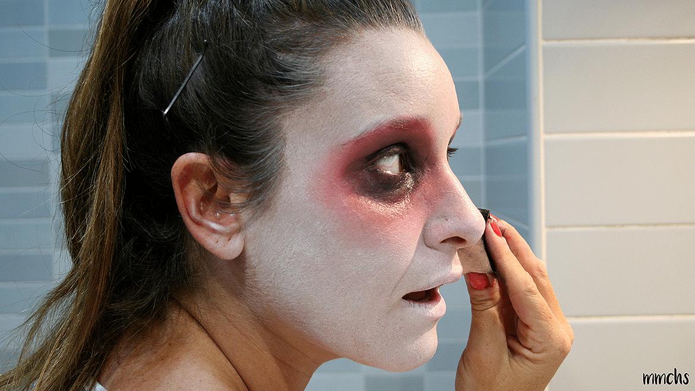 maquillaje de momia paso paso