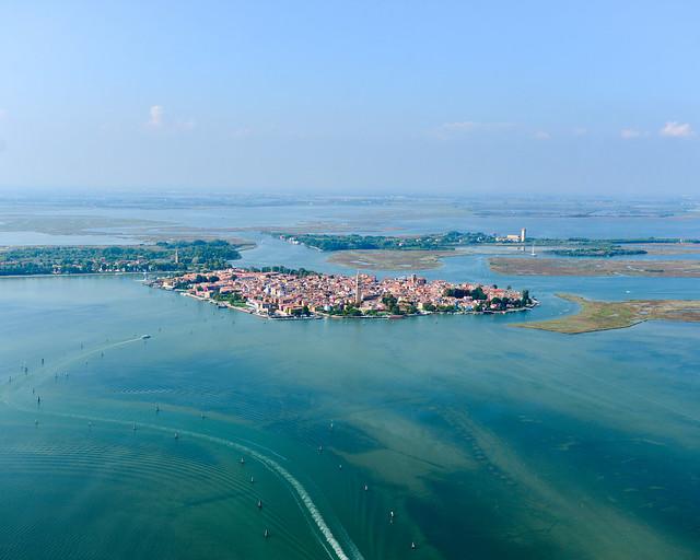 Isla de Burano desde el aire