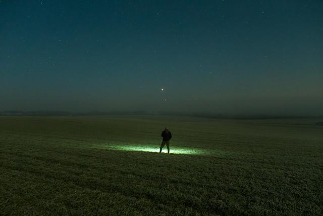 VCSE - Vénusz - Jupiter együttállás a Teljes holdfogyatkozás ideje alatt