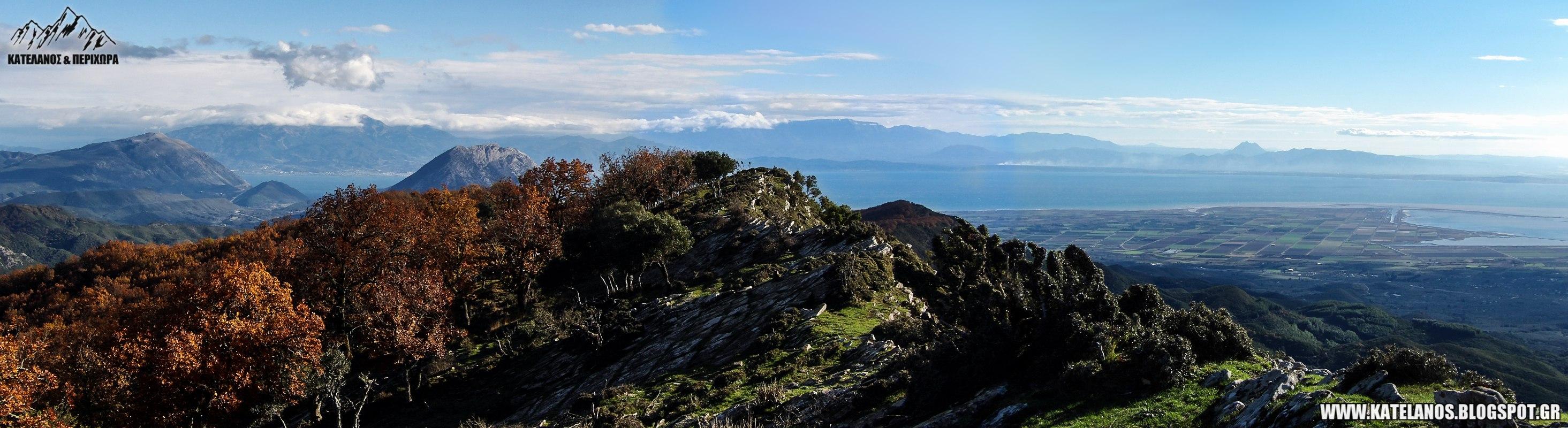 θέα από το βουνό αράκυνθος πανόραμα