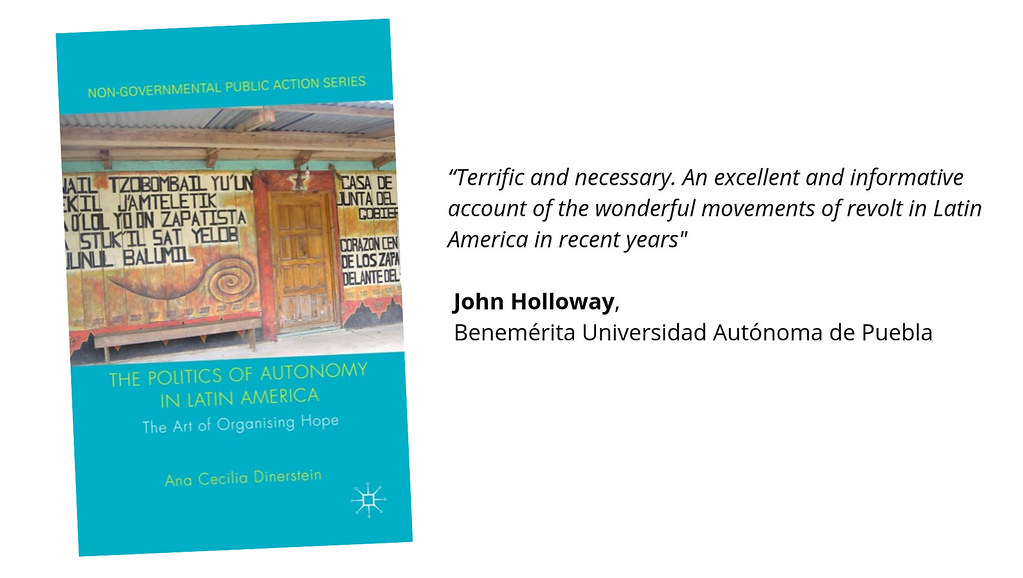 Image of Ana Cecilia's book with a foreword from John Holloway.