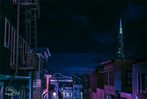 Image of San Francisco, California, at night
