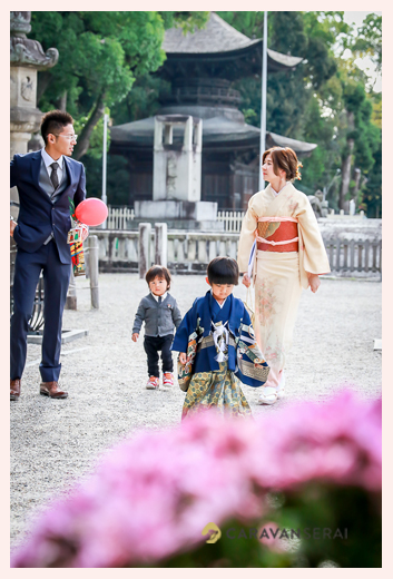 知立神社で七五三 家族写真 愛知県知立市