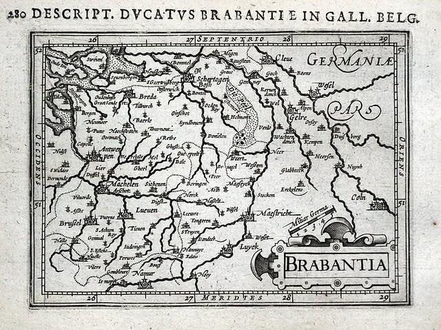 Mapa de Brabante del siglo XVII