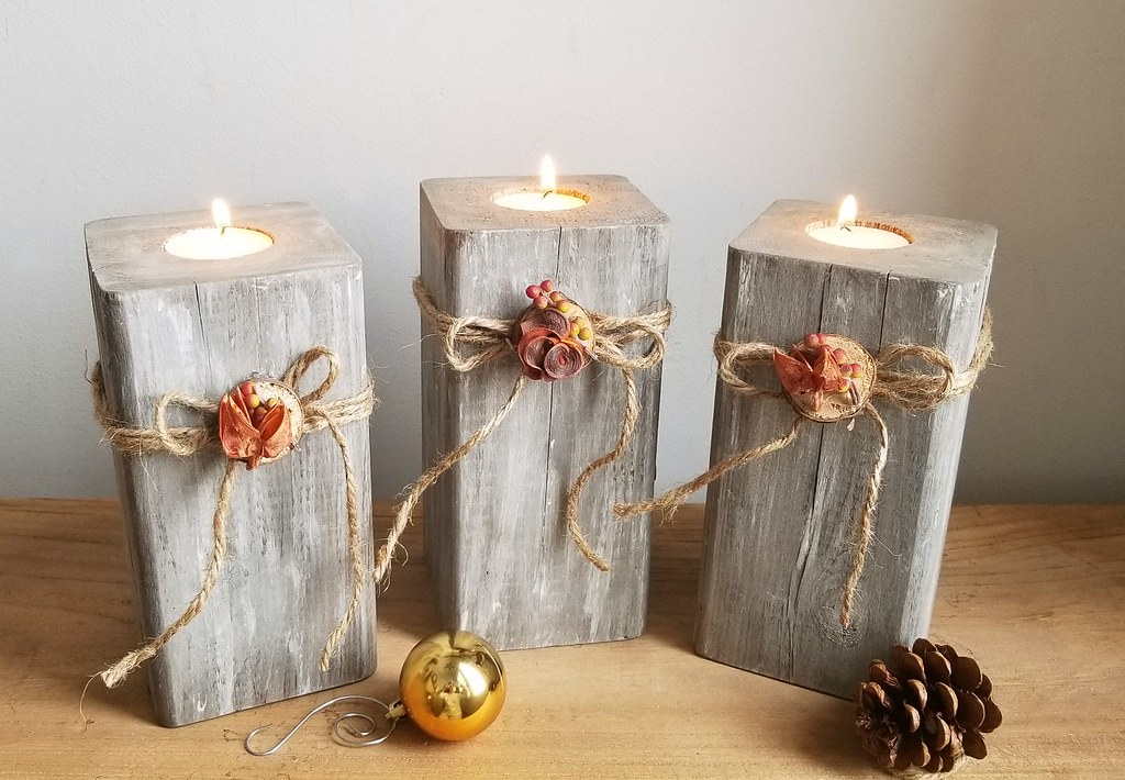 Turtles And Tails 4x4 Wooden Candle Holders