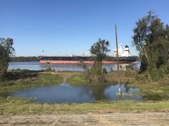 Tanker on the Mississippi