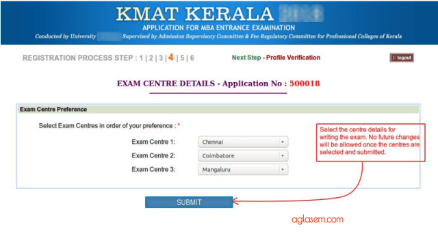 KMAT Kerala 2019 Test City