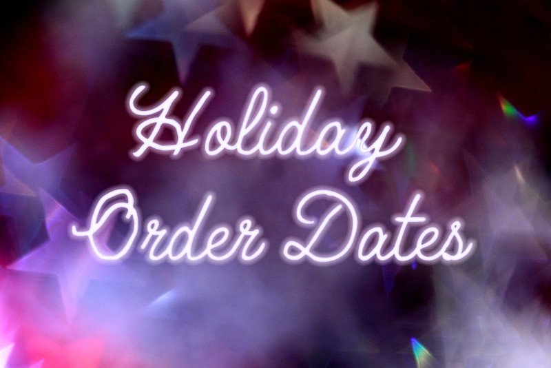 Holiday Order Dayes