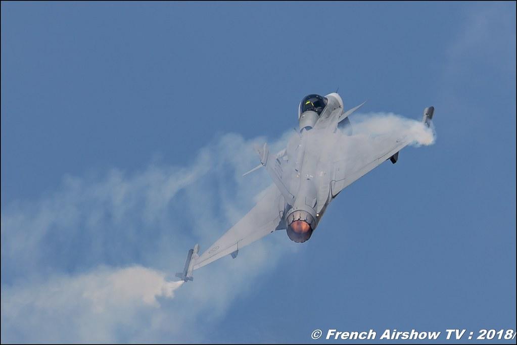 Saab JAS 39 Gripen suède RIAT 2018 - Royal International Air Tattoo RAF Fairford Royaume-Uni Canon Sigma France contemporary lens Meeting Aerien 2018