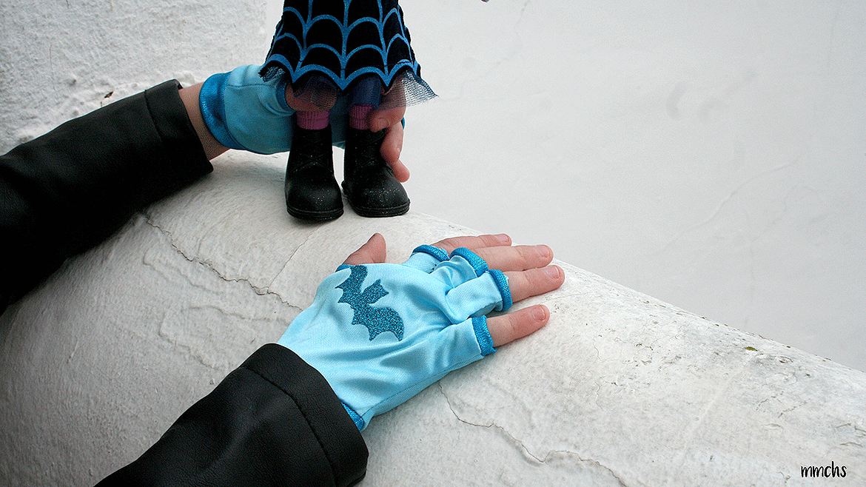 Vampirina guantes y diadema