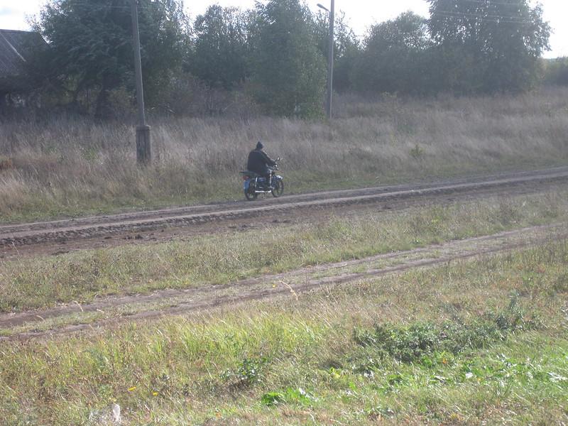 Старостин Валерий на мотоцикле