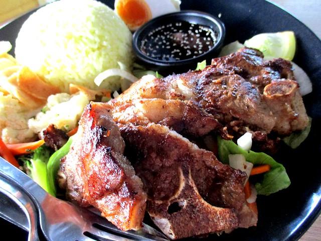 Nasi kerabu lamb chop 2