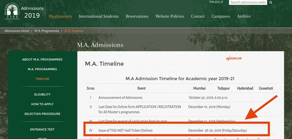 TISSNET 2019 Admit Card Date Postponed; Hall Ticket Releasing on 28 and 29 Dec