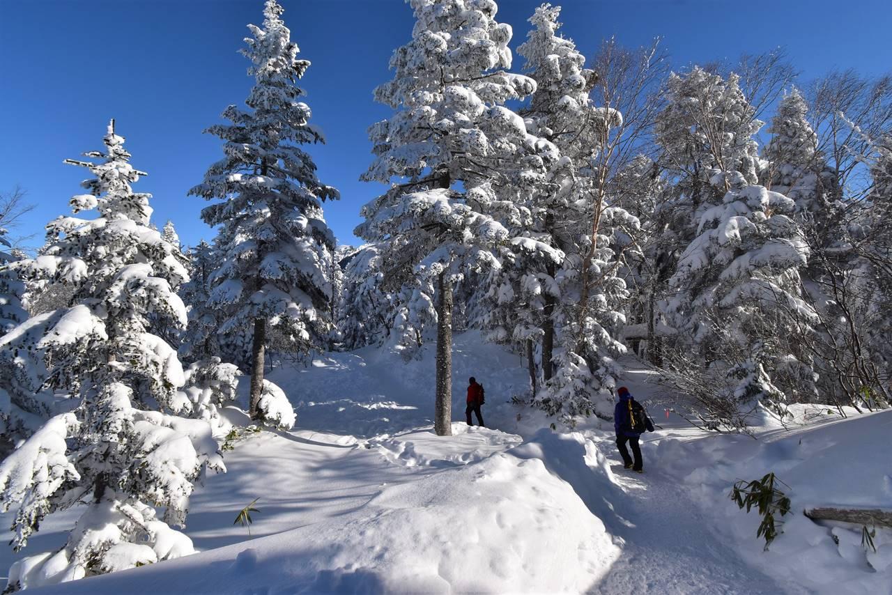 冬の西穂高岳登山口