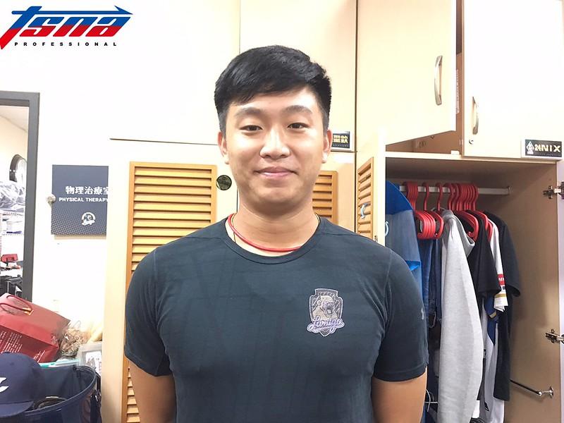 洪聖欽將於10日在桃猿羅德交流賽第2戰擔任先發投手。(行大昀/攝)