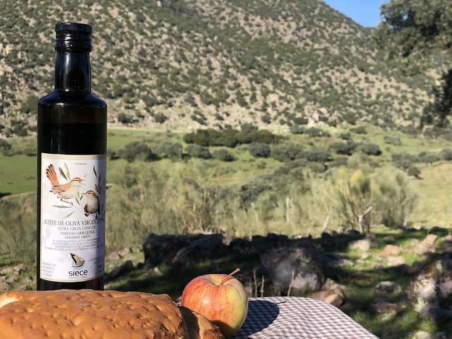 Viandas para esperar que apareciera el lince ibérico en una finca privada de la Sierra de Andújar en Jaén