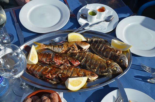 Fish platter, Cofradia de pescadores, Puerto de la Cruz, Tenerife