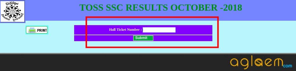 TOSS SSC Result October 2018
