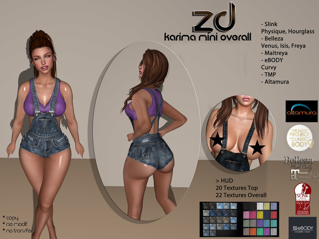 Karima Mini Overall | ❀ ZD ❀ Karima Mini Overall HUD - 20