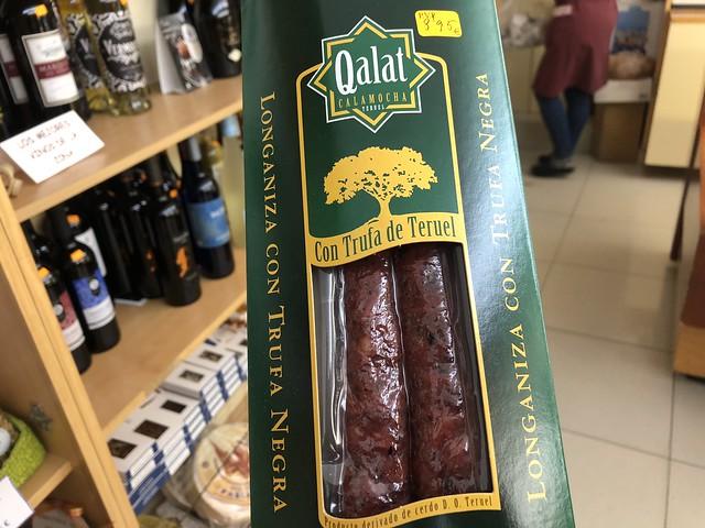 Producto de Qalat (Longaniza con trufa negra de Teruel)
