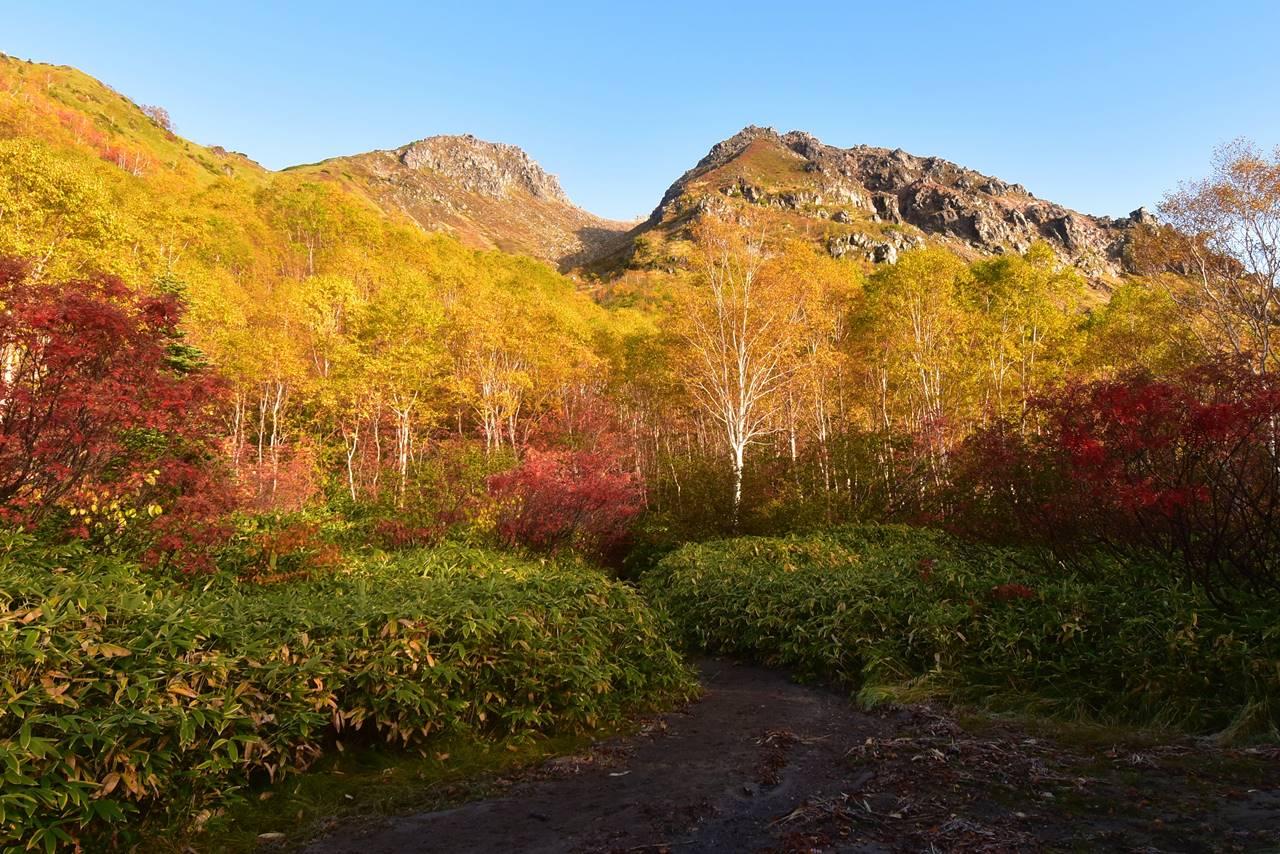 焼岳 紅葉登山