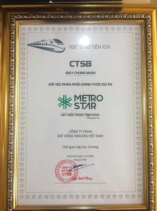 ERA Vietnam chính thức là F1 phân phối dự án Metro Star quận 9