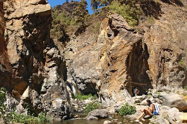 River in Caldera de Taburiente, La Palma