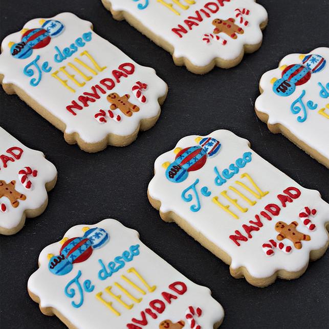 galletas de Navidad decoradas glasa