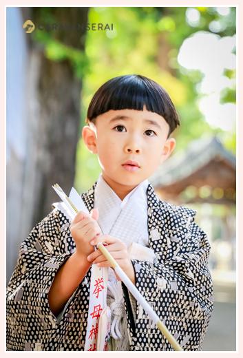 5歳の男の子の七五三 挙母神社