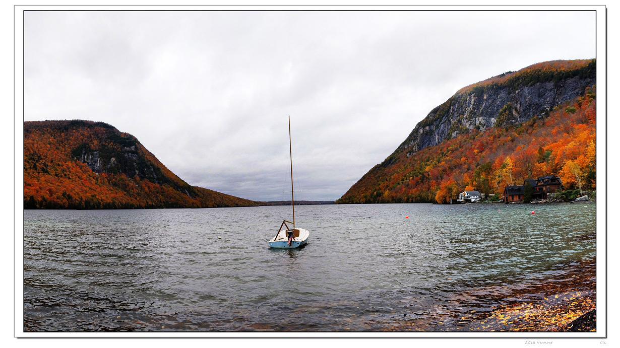 仙境在人間-3 美麗的Vermont湖光秋色