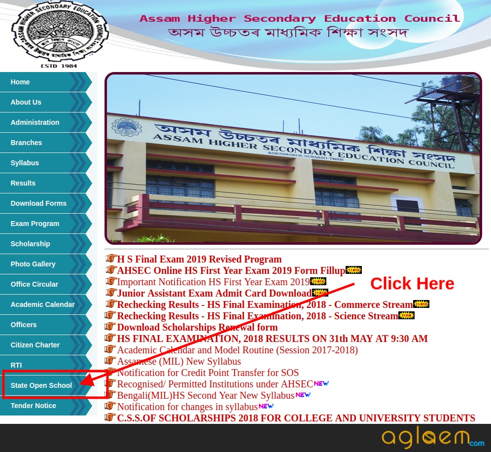 Assam State Open School Result 2019