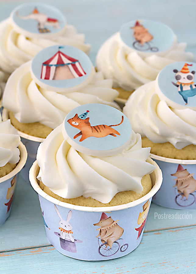 papel comestible cupcake