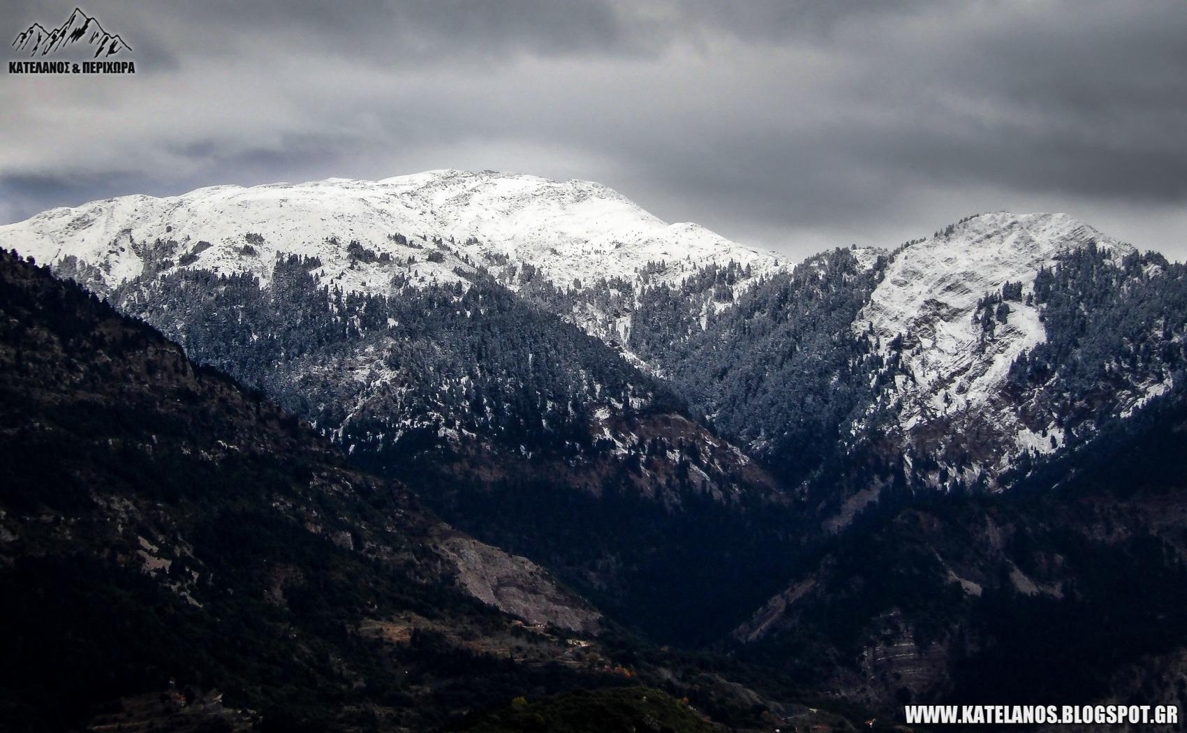 χιονισμενα τοπια αιτωλοακαρνανιας κορυφες βουνων χιονια