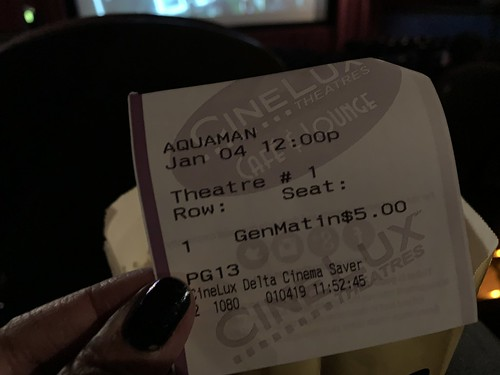 First movie of 2019 - Aquaman | by walelia