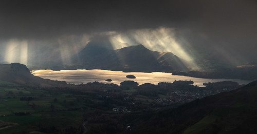 Derwent Water and Cat Bells from Blencathra | by Nick Livesey Mountain Images