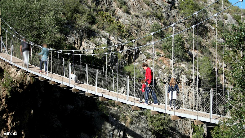 ruta de los puentes colgantes Chulla