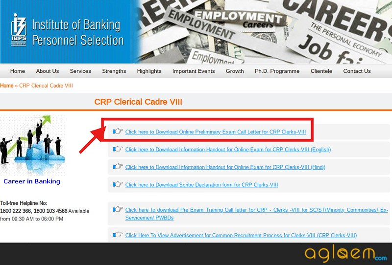 IBPS Clerk Admit Card 2018