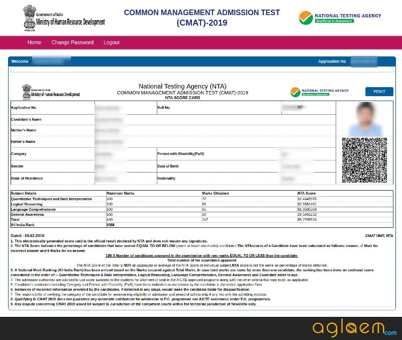 CMAT 2019 Result (Announced) - Check Here at ntacmat.nic.in