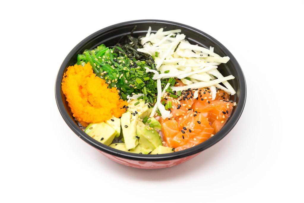 Poke Bowl Lachs Teriyaki Mit Sushireis Lachs Avocado Flickr