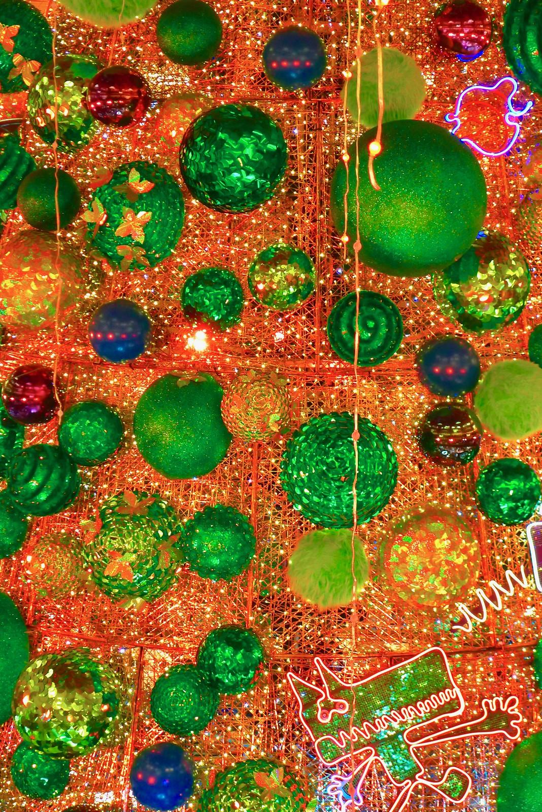 L'arbre de Noël 2018 aux Galeries Lafayette Haussmann, Paris