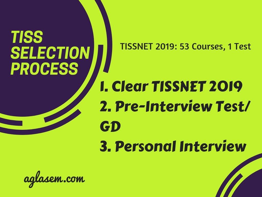 TISSNET 2019 Selection Process