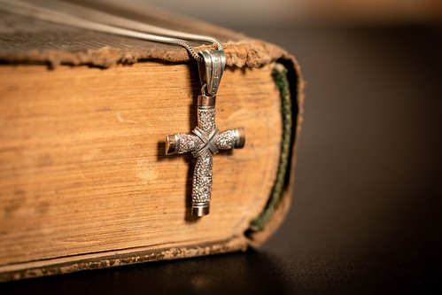 Religious old book with cross | by wuestenigel